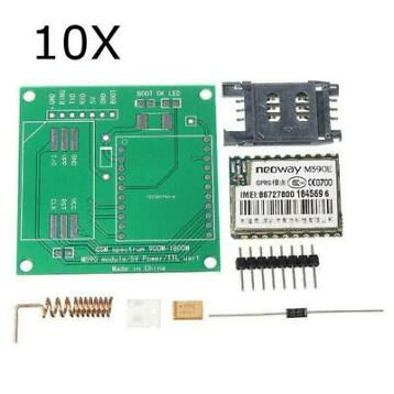 10pcs DIY M590E GSM GPRS Communicatie Module Kit Dual Ban...