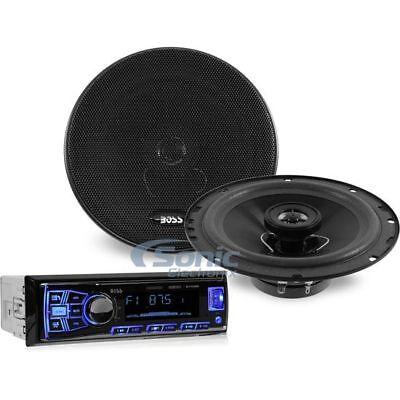 "Boss 638BCK Single DIN Bluetooth Digital Media Car Stereo w/ 6.5"" Speakers"