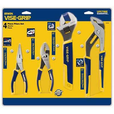 Nose Pliers Set 4 Piece - Irwin Vise-Grip 2078705 4-Piece ProPlier Set - Long Nose / Slip Joint / Adjustab