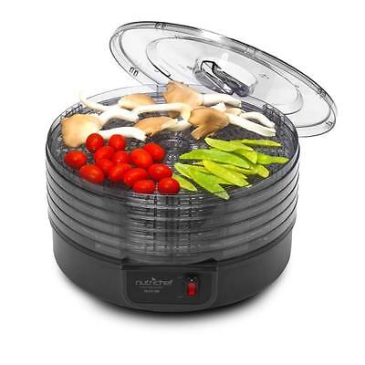 NutriChef PKFD14BK Kitchen Electric Countertop Food Dehydrat