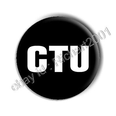 "BUTTON BADGE PIN - 24 ""CTU"""