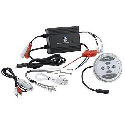 Pyle Plmrmbt5b Marine Boat 600 Watt Bluetooth Amplifier 2 Channel Amp Black