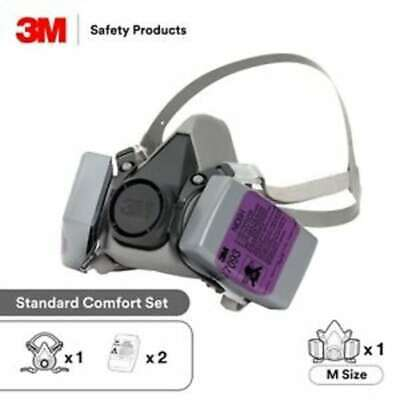 3m 6300 Half Face Respirator W 2 Each 7093 P100 Particulate Filter Size Large
