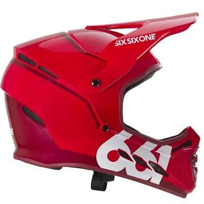 5e30b534 Sixsixone 661 Reset Fullface Full Face DH Downhill MTB Bike Helmet Red Large