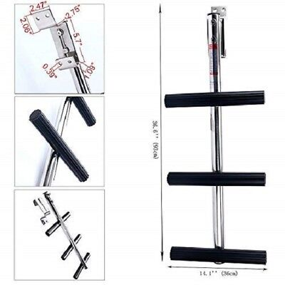 3 Step FREE SHIP Stainless Sport Dive Ladder w/ Bracket Transom Dive Boat Board ()
