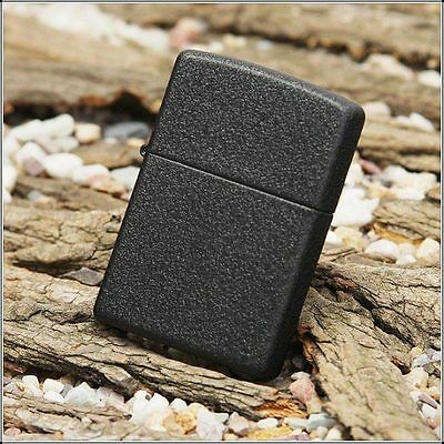 Zippo 236 Regular Black Crackle  - Black Lighter - Petrol Windproof - Gift Box