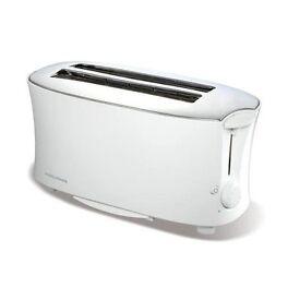 Morphy Richards 44170 Essentials 4 Slice White Toaster