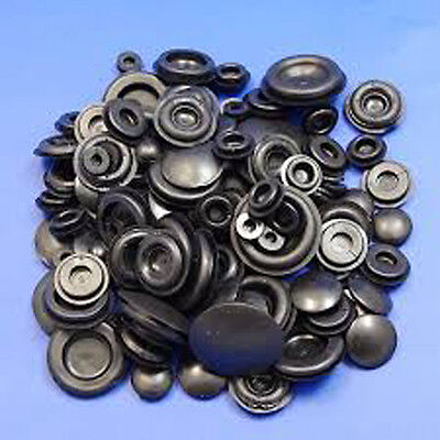 Car Parts - 60 x ASSORTED BLANKING GROMMET PLUG GROMMETS 6mm to 25mm CLOSED BUNG STOPPER