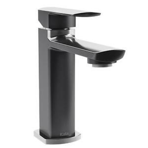 Robinet de lavabo noir Kalia Grafik, Salle de bain, NEUF