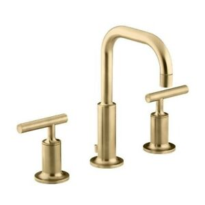 Kohler 14406-4-BGD Purist Widespread Lavatory Faucet With Low Go