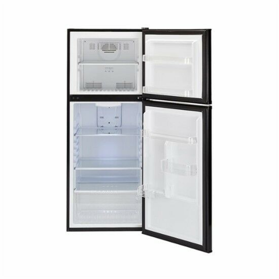 HAIER FrostLess 10 Cub' Refrigerator & Top Freezer BLACK. Se