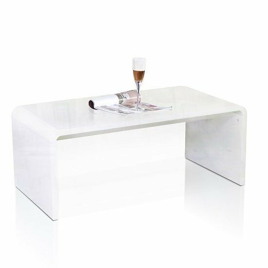 Toscana Coffee Table Rectangular In White High Gloss