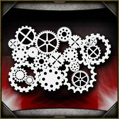 Gear Background Airbrush Stencil Template Airsick