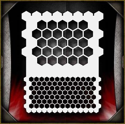 """""""Honeycomb"""" Airbrush Stencil Template Airsick"""