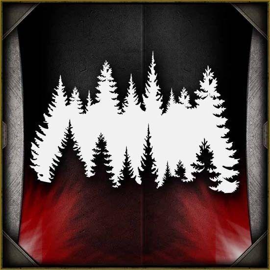 Treeline Airbrush Stencil Template Airsick
