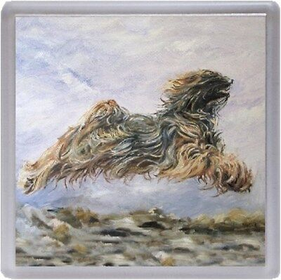 Tibetan Terrier Dog Coaster No12SH by Starprint from a painting by Susan Harper
