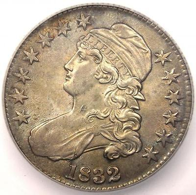 1832 CAPPED BUST HALF DOLLAR 50C SMALL LETTERS - ICG AU58 - $850 GUIDE VALUE