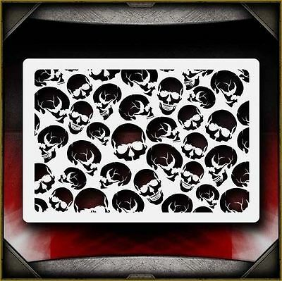 Skull Background 8 Airbrush Stencil Template Airsick