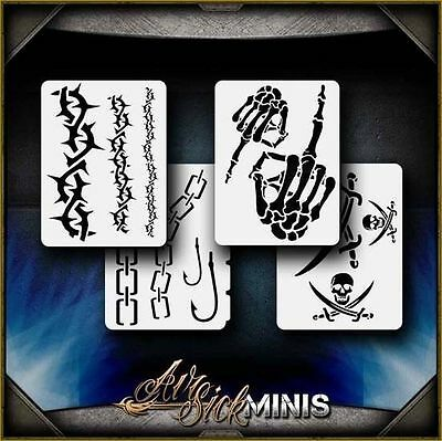 """Mini Rebel Set"" Airbrush Stencil Template Airsick"