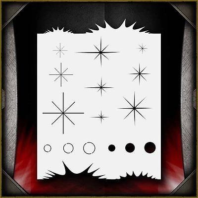 """Sparkle Freehander"" Airbrush Stencil Template Airsick"