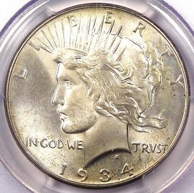 1934 PEACE SILVER DOLLAR $1   PCGS MS64 PQ    IN MS64   NICE LUSTER!