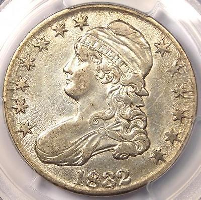 1832 CAPPED BUST HALF DOLLAR 50C   PCGS AU DETAILS      NICE LUSTER!
