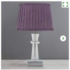 Pyramid Crystal Table Lamp Plum Purple £10 RRP £22