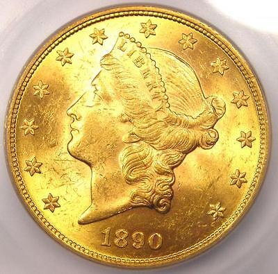 1890 LIBERTY GOLD DOUBLE EAGLE $20   ICG MS63    DATE   $12,350 VALUE