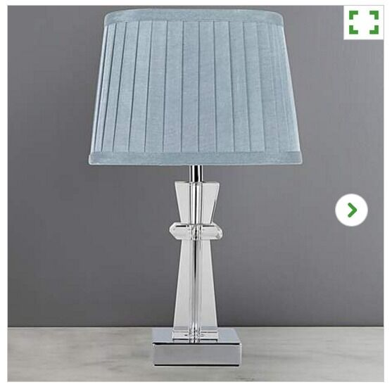 Pyramid crystal table lamp duck egg blue 10 rrp 22 in blantyre pyramid crystal table lamp duck egg blue 10 rrp 22 aloadofball Images