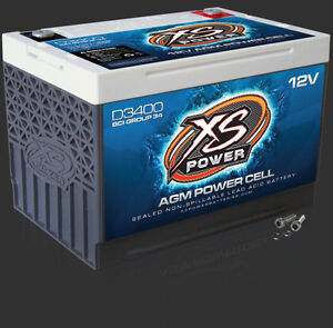 XS POWER D3400 AGM CAR AUDIO 3300 AMPS Power Cell Battery With Terminals D 3400