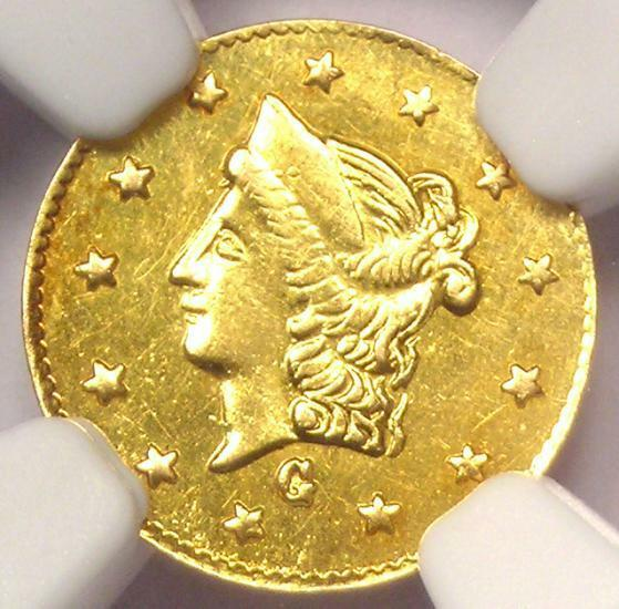 1869 Liberty California Gold Half Dollar 50C BG-1021 R6. NGC UNC (MS). Rarity-6!