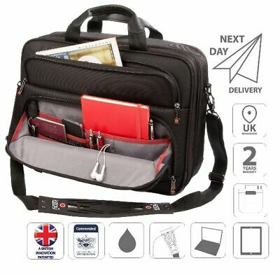 "15.6"" Laptop Bag Briefcase iPad Organiser Shoulder Bag Black is0203"