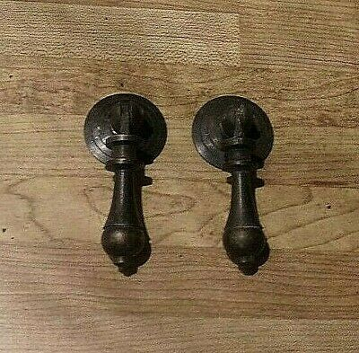 "2 Solid Brass Dresser Drawer Cabinet Furniture Pull Knob Hardware 2/"" HANG  #23"