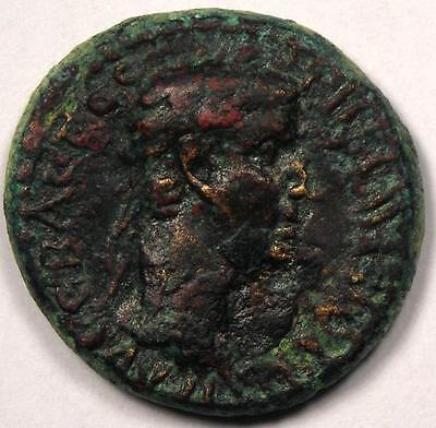 Roman Ancient Coin - Aeolis. Aegae. Claudius (AD 41-54) - Near Very Fine!