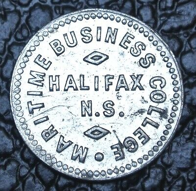 "MARITIME BUSINESS COLLEGE HALIFAX N.S. TOKEN - College Currency ""10"" - SCARCE"