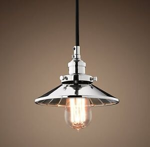 3 Reflector Filament 7½ Pendant Polished Nickel | Utility Pendan