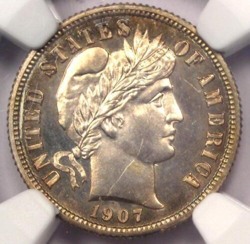 1907 PROOF Barber Dime 10C Coin - NGC Proof Details (PF/PR) - Rare Proof!