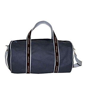 J P  Morgan Jpmorgan Chase 17  Original Duffel Banker Bag Navy Gray Brown