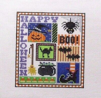 The Meredith Collection Halloween Sampler Handpainted HP Needlepoint Canvas ](Halloween Meredith)