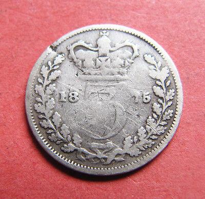 A 1875 Victoria silver threepence coin