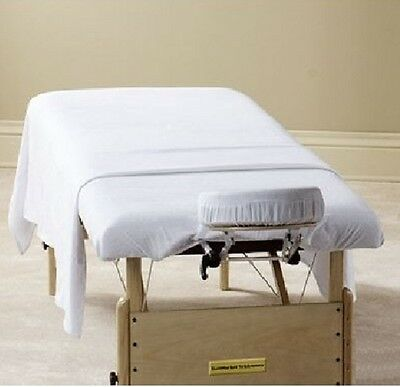 2 white massage new table flat draw sheets muslin t180 spa selects brand