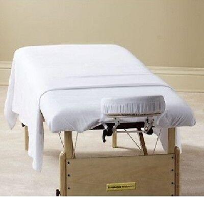 12 new white massage table flat draw sheets muslin t130 54x90