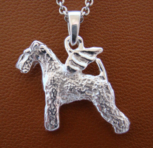 Sterling Silver Lakeland Terrier Angel Pendant