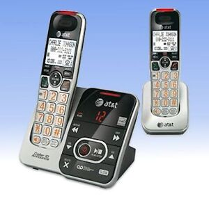 AT&T CRL32202 2 Cordless HandSets Answering Caller ID Illuminated Telephone HD
