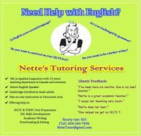 Tutor help for: Writing, ESL, IELTS and Academia