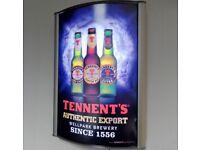 LED Menu Box + Design and Print £150.00