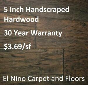 5 Inch Engineered Handscrapted Hard Wood - 30yr Warranty! - Liquidation Price!