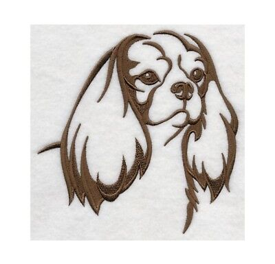 Cavalier Spaniel Embroidery - Completed Embroidery Cavalier King Charles Spaniel Dog Silhouette