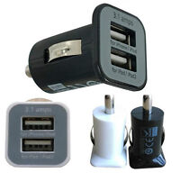 Dual USB High Power Car Charger for iPad, iPhone, Samsung, htc