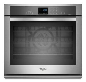 Whirlpool WOS92EC0AS Gold® 5.0 cu. ft. Single Wall Oven with SteamClean Option-Brand New(MP_230)